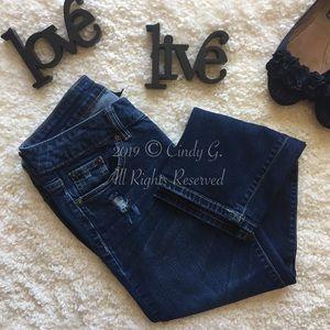 Apt. 9 Dark Denim Distressed Jeans